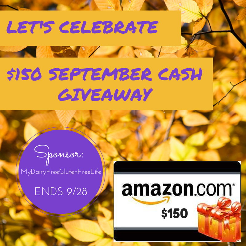 Let's Celebrate $150 September Cash Giveaway