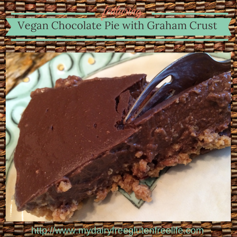 Vegan Chocolate Pie with Graham Crust