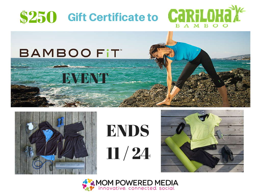 Enter the Cariloha $250 Gift Certificate Giveaway. Ends 11/24.