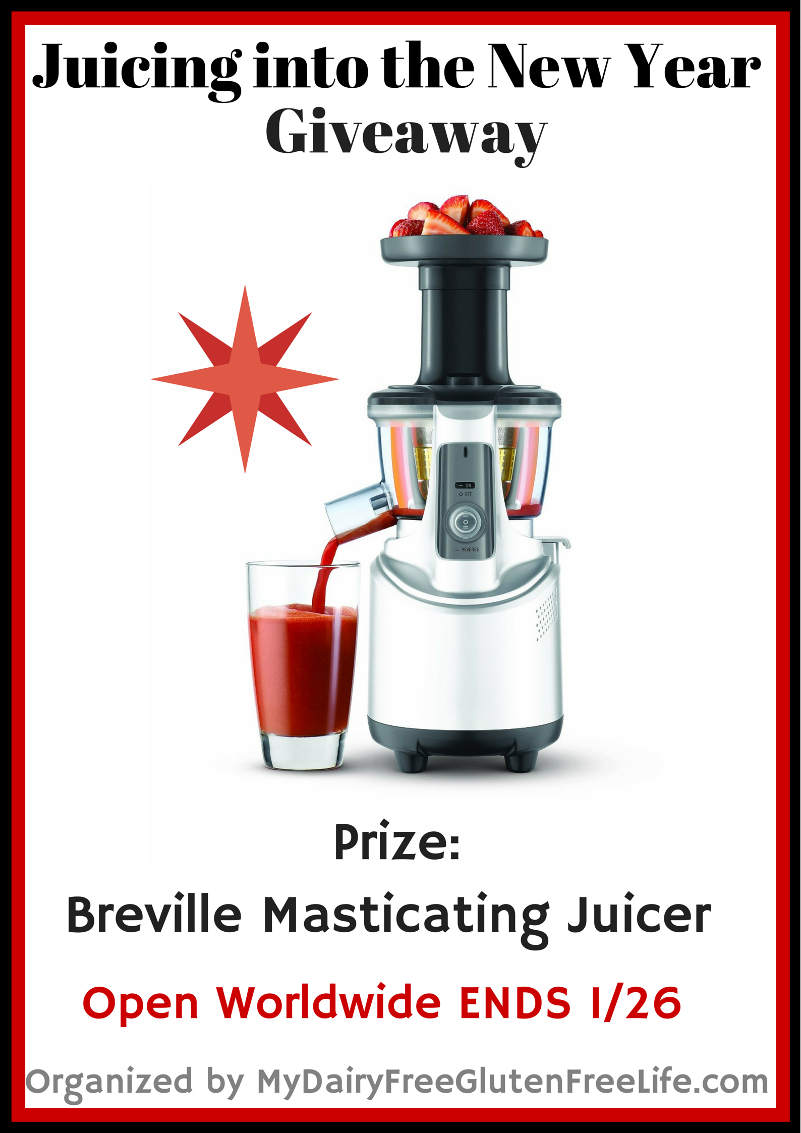 Slow Juicer Ginger : Juicing into the New Year Giveaway