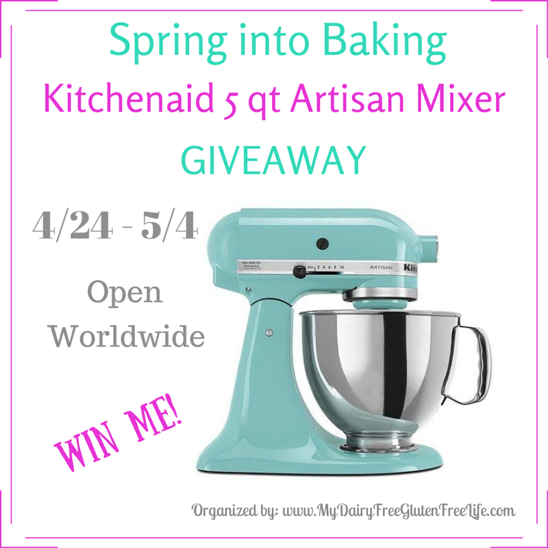 Spring into Baking, Kitchenaid 5qt Artisan Mixer Giveaway