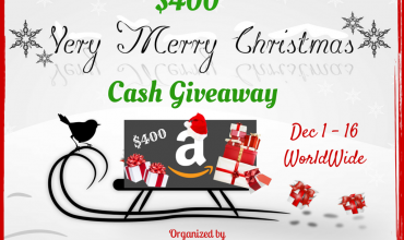 $400 Very Merry Christmas Cash Giveaway
