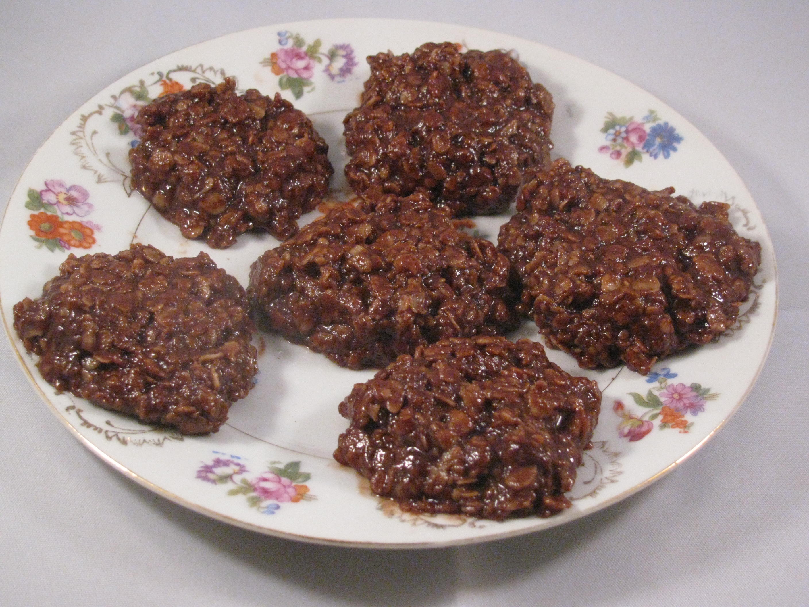 No Bake Cookies, Oatmeal Chocolate Peanut Butter Recipe - My ...