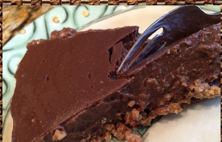 Dairy Free Chocolate Pie #Vegan #Glutenfree