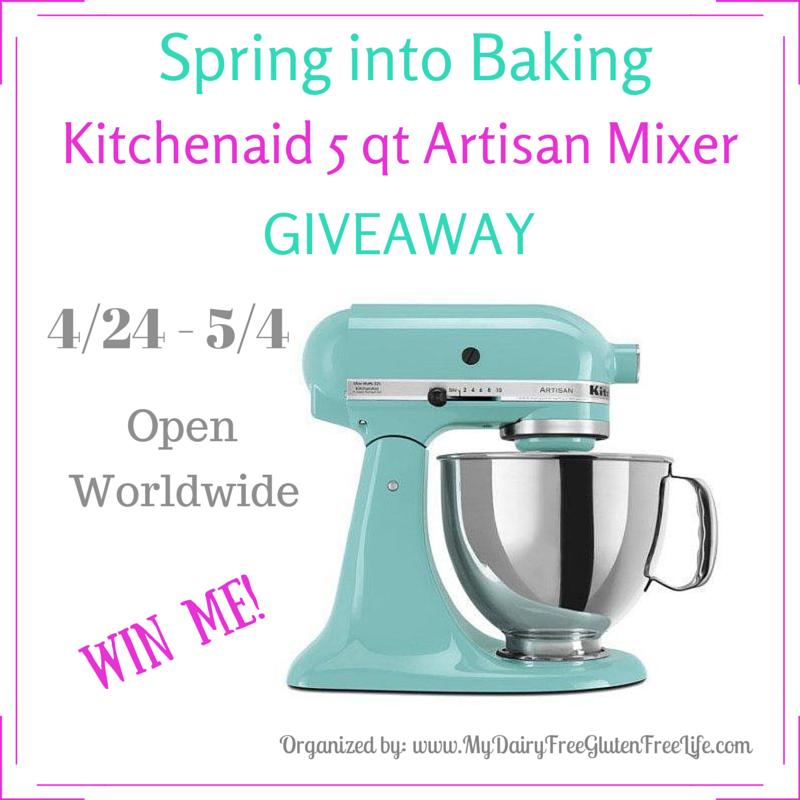 Spring into Baking, Kitchenaid 5qt Artisan Mixer Giveaway