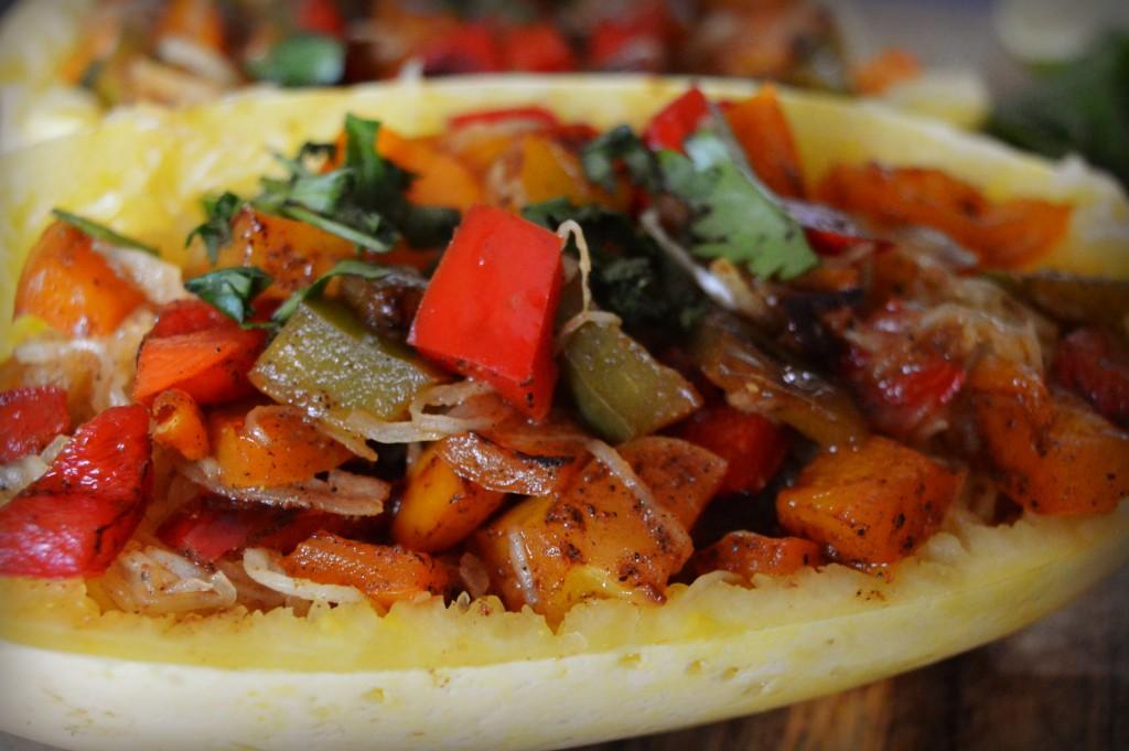 rainbow pepper spaghetti squash 4