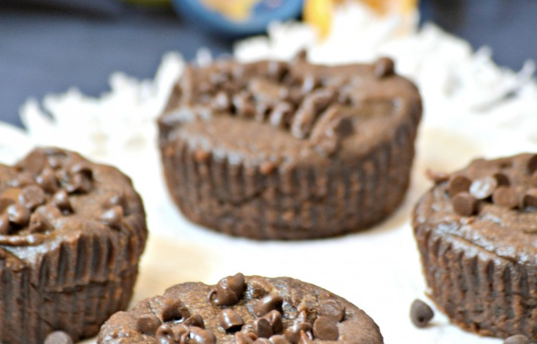 4 Ingredient Flourless Chocolate Muffins – Cupcakes  Vegan