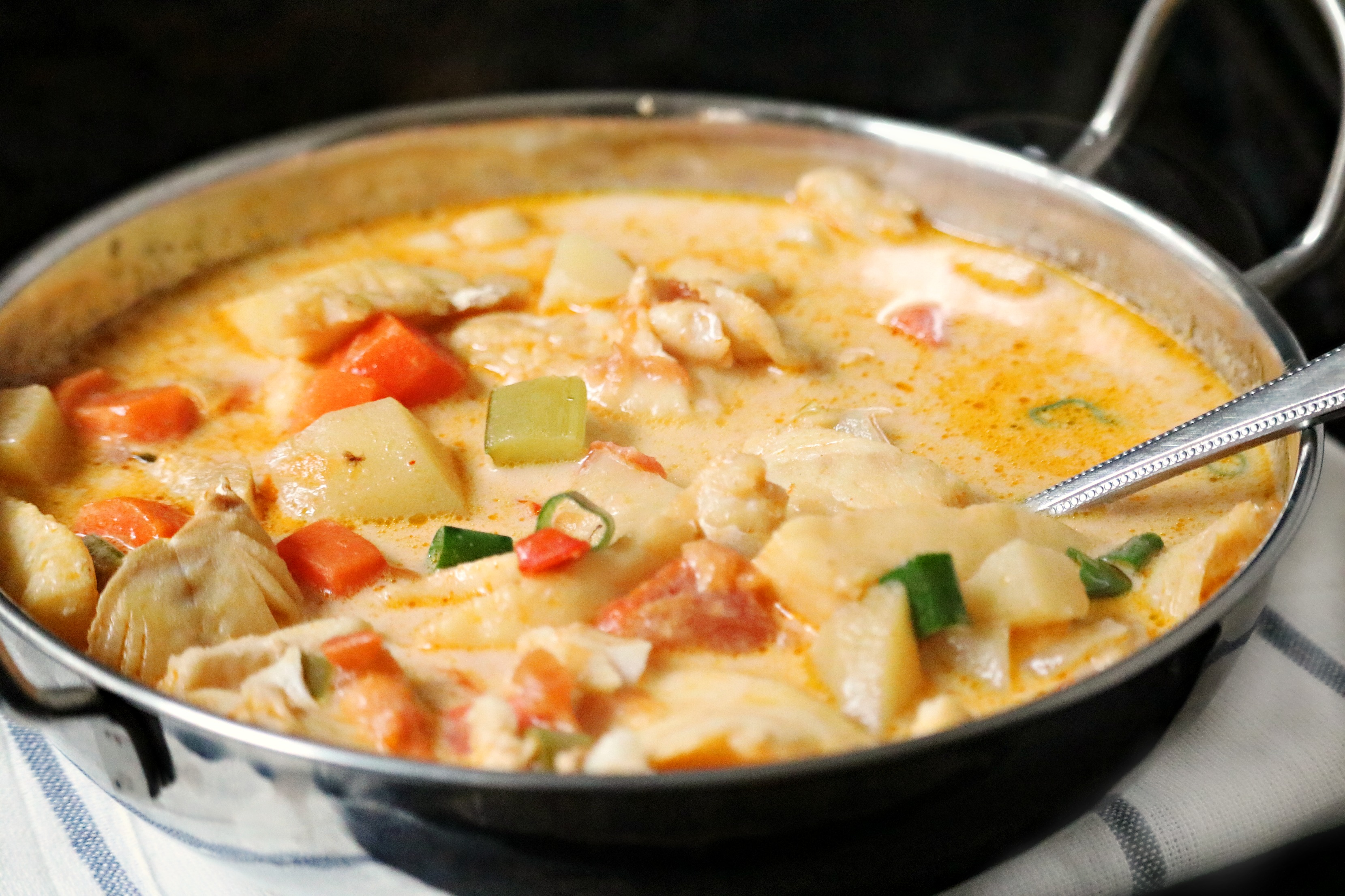 Thai coconut fish soup gluten dairy free my for Thai fish soup
