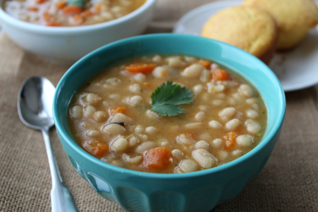 Slow Cooker Navy Bean Soup - My DairyFree GlutenFree Life