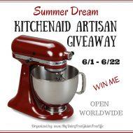 KitchenAid Artisan Giveaway #SummerDream 6/22
