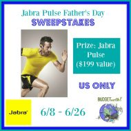 Jabra Pulse Father's Day Sweepstakes 6/26