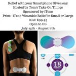 iTens Wearable Pain Relief with your Smartphone Giveaway – Ends 8/8