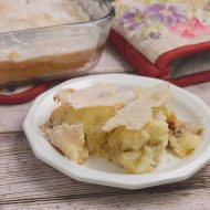 Rhubarb Pudding Cake, Gluten and Dairy Free