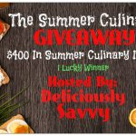 The Summer Culinary Giveaway! 1Winner (RV$400) – Ends 8/22