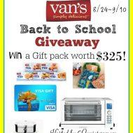 Van's Back To School Giveaway (rv $325) Ends 9/10