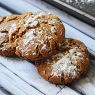 Gingerbread Crinkle Cookies Gluten and Dairy Free