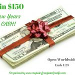 $150 New Years Cash Giveaway! Ends 1/23
