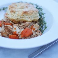 Biscuit Chicken Skillet Dinner, Dairy and Gluten FREE
