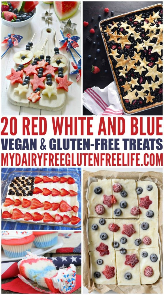 July 4th Red White & Blue Treats - NO Gluten or Dairy
