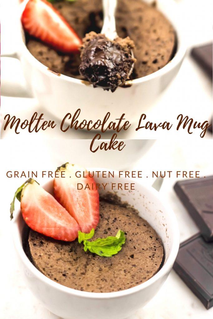 Chocolate Lava Mug Cake Gluten Free